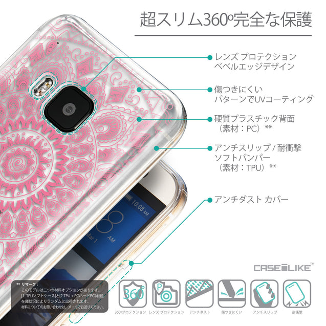 Details in Japanese - CASEiLIKE HTC One M9 back cover Indian Line Art 2062