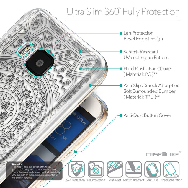 Details in English - CASEiLIKE HTC One M9 back cover Indian Line Art 2063