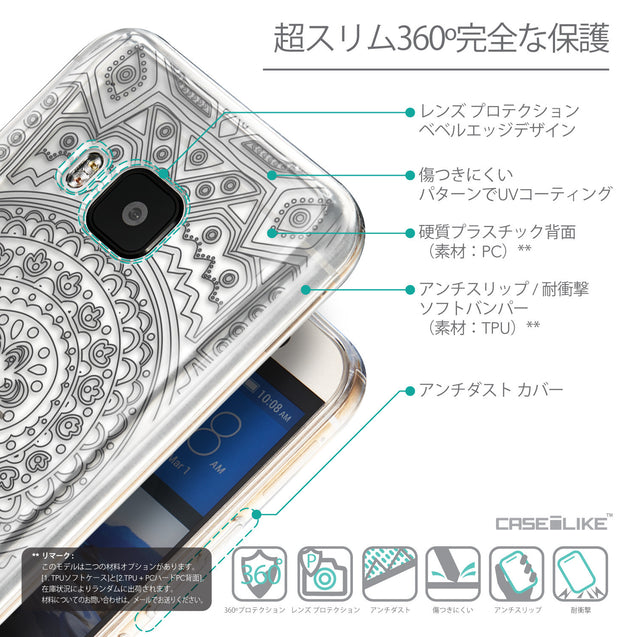Details in Japanese - CASEiLIKE HTC One M9 back cover Indian Line Art 2063