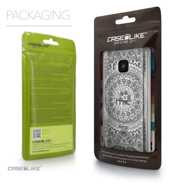 Packaging - CASEiLIKE HTC One M9 back cover Indian Line Art 2063