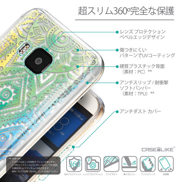 Details in Japanese - CASEiLIKE HTC One M9 back cover Indian Line Art 2064