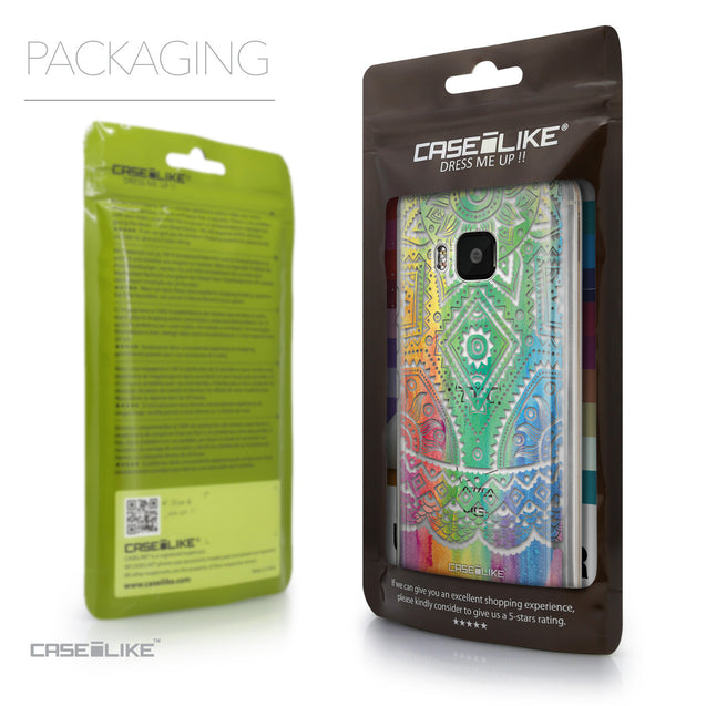 Packaging - CASEiLIKE HTC One M9 back cover Indian Line Art 2064