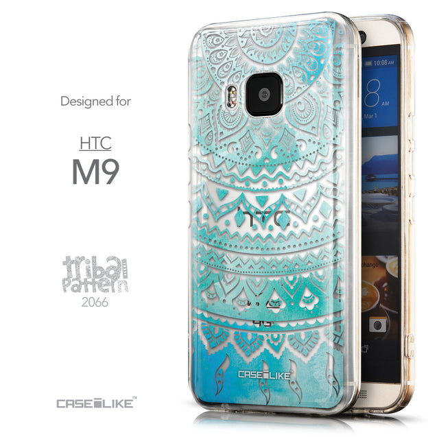 Front & Side View - CASEiLIKE HTC One M9 back cover Indian Line Art 2066