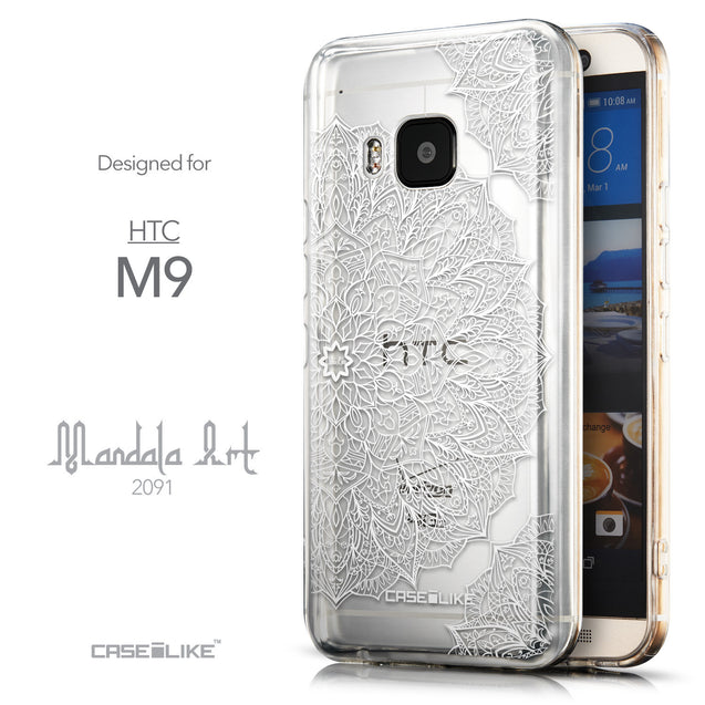 Front & Side View - CASEiLIKE HTC One M9 back cover Mandala Art 2091