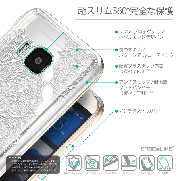 Details in Japanese - CASEiLIKE HTC One M9 back cover Mandala Art 2091