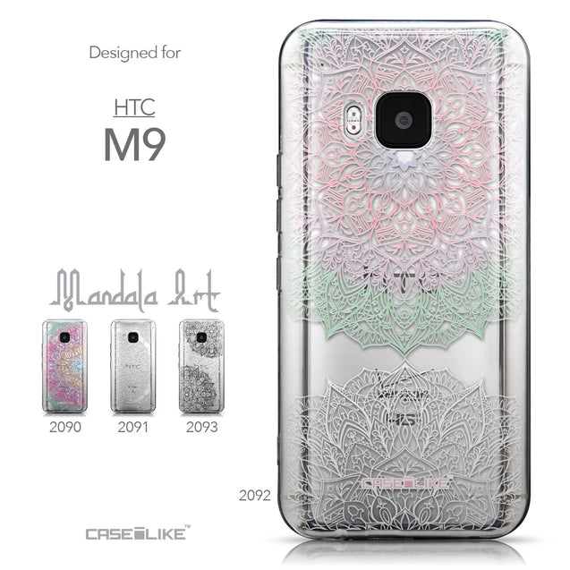 Collection - CASEiLIKE HTC One M9 back cover Mandala Art 2092