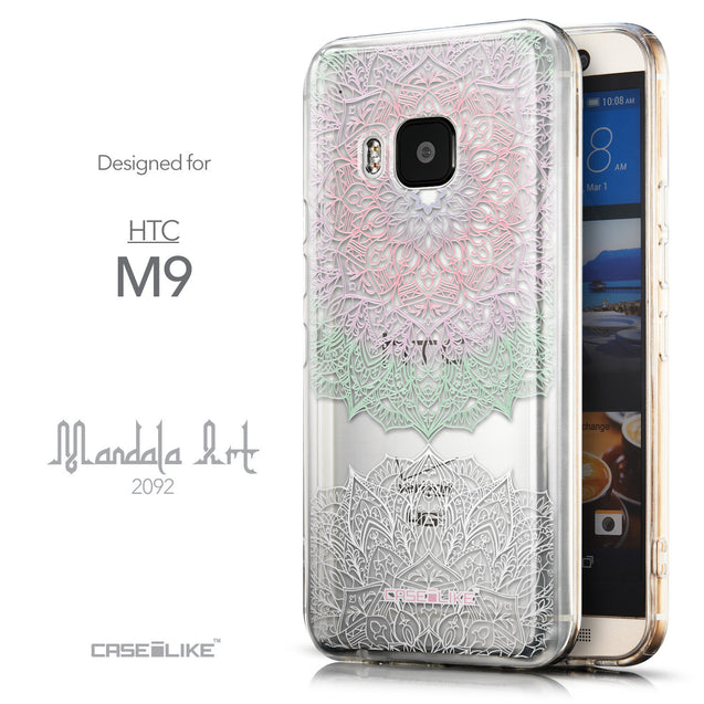 Front & Side View - CASEiLIKE HTC One M9 back cover Mandala Art 2092