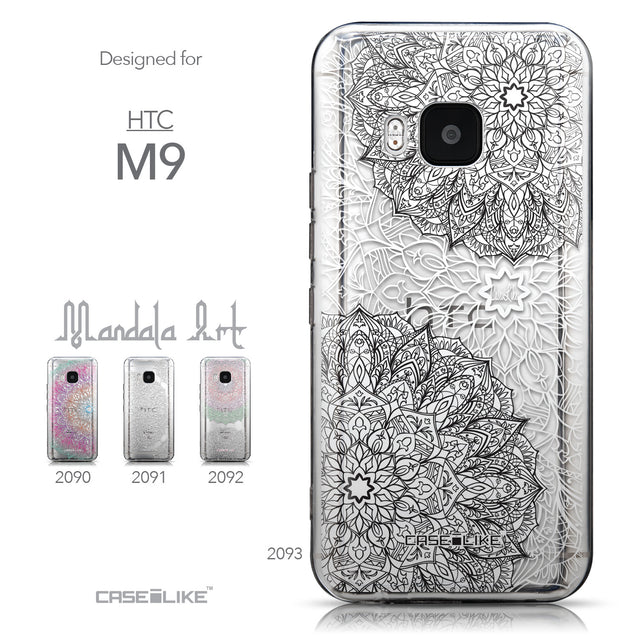 Collection - CASEiLIKE HTC One M9 back cover Mandala Art 2093