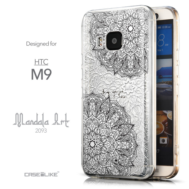 Front & Side View - CASEiLIKE HTC One M9 back cover Mandala Art 2093