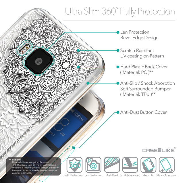 Details in English - CASEiLIKE HTC One M9 back cover Mandala Art 2093