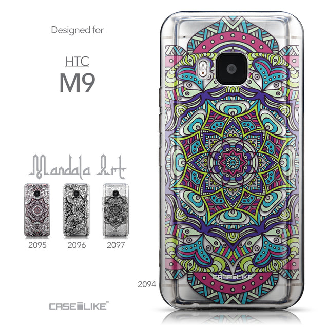 Collection - CASEiLIKE HTC One M9 back cover Mandala Art 2094