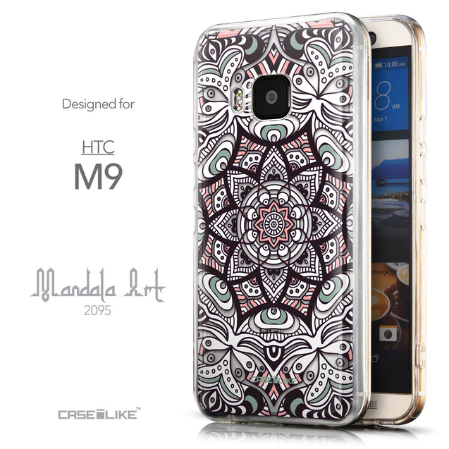 Front & Side View - CASEiLIKE HTC One M9 back cover Mandala Art 2095
