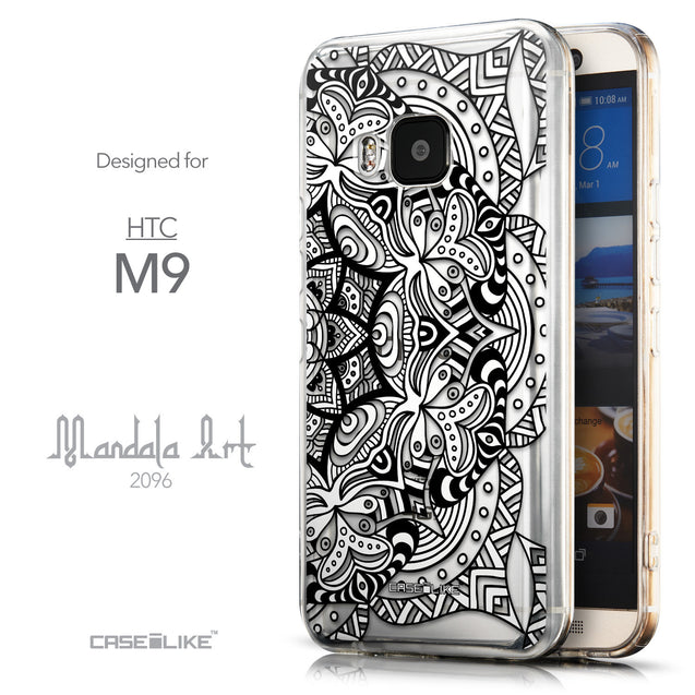Front & Side View - CASEiLIKE HTC One M9 back cover Mandala Art 2096