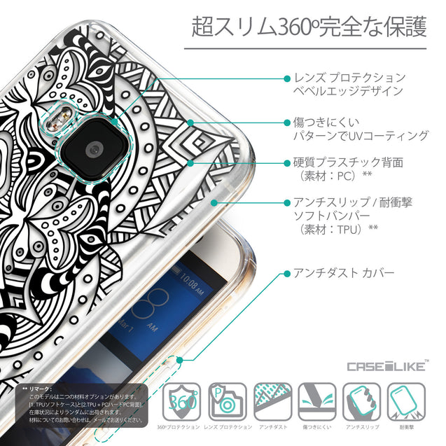 Details in Japanese - CASEiLIKE HTC One M9 back cover Mandala Art 2096