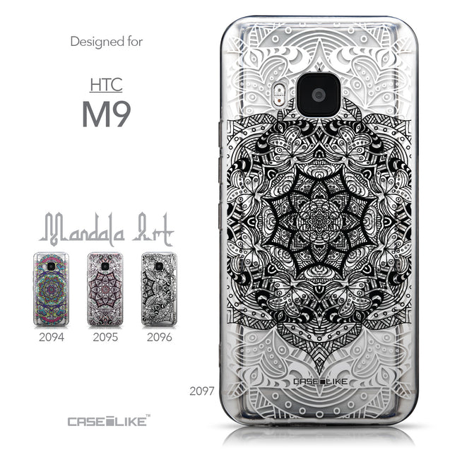 Collection - CASEiLIKE HTC One M9 back cover Mandala Art 2097