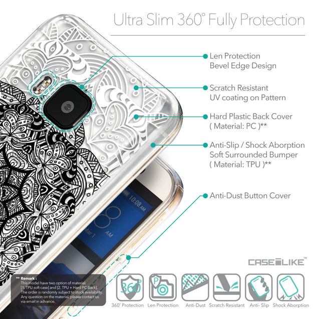 Details in English - CASEiLIKE HTC One M9 back cover Mandala Art 2097