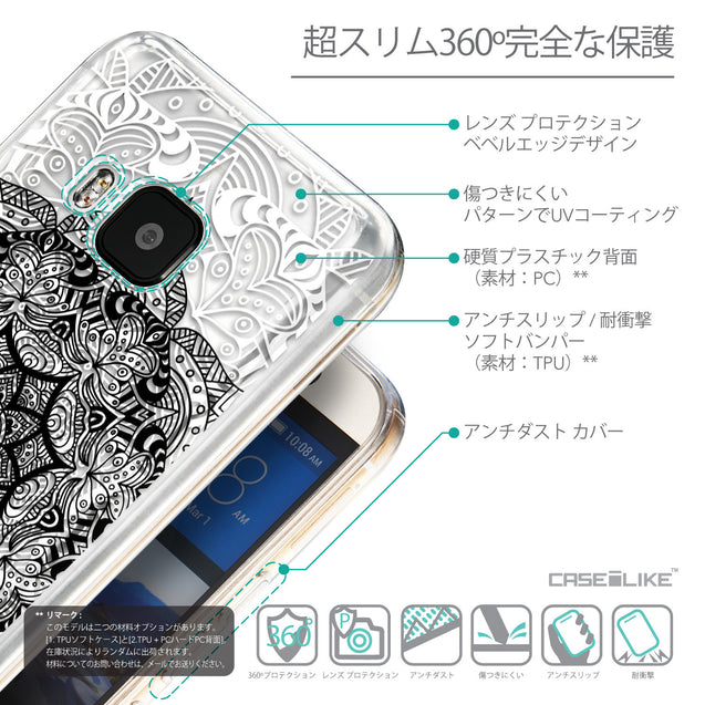 Details in Japanese - CASEiLIKE HTC One M9 back cover Mandala Art 2097