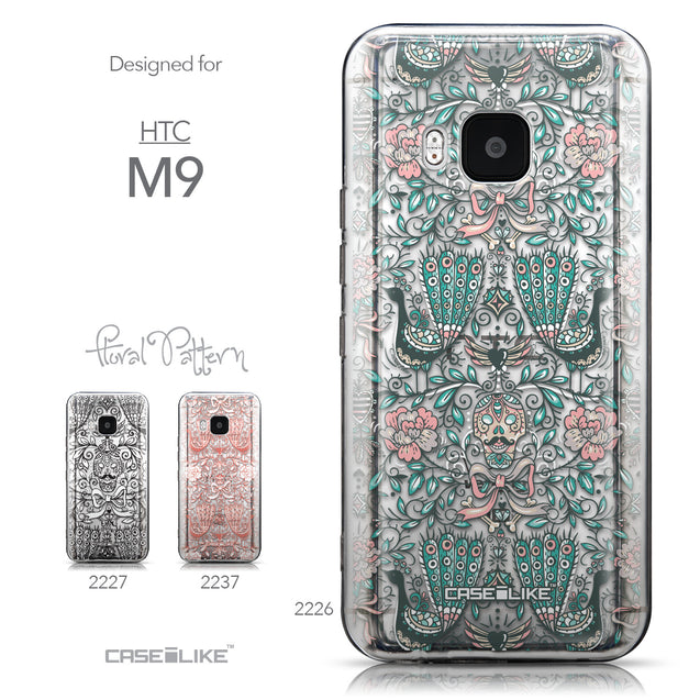 Collection - CASEiLIKE HTC One M9 back cover Roses Ornamental Skulls Peacocks 2226