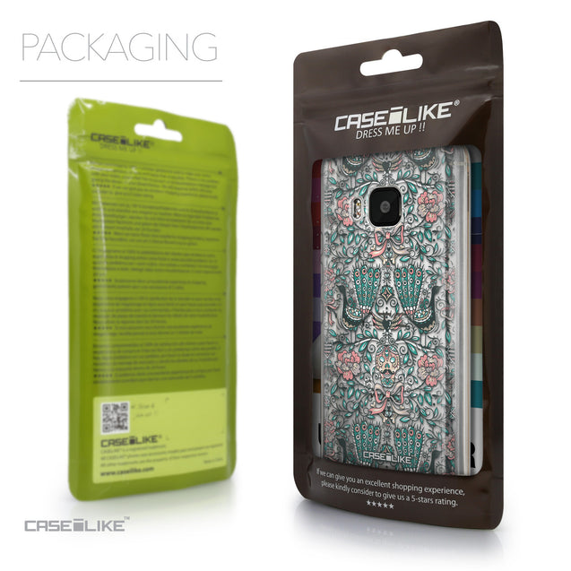 Packaging - CASEiLIKE HTC One M9 back cover Roses Ornamental Skulls Peacocks 2226