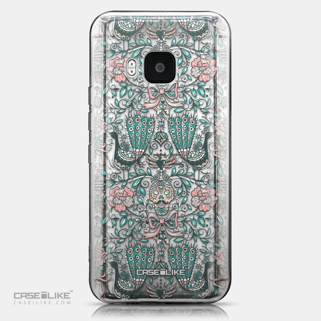 CASEiLIKE HTC One M9 back cover Roses Ornamental Skulls Peacocks 2226