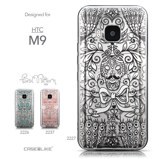 Collection - CASEiLIKE HTC One M9 back cover Roses Ornamental Skulls Peacocks 2227