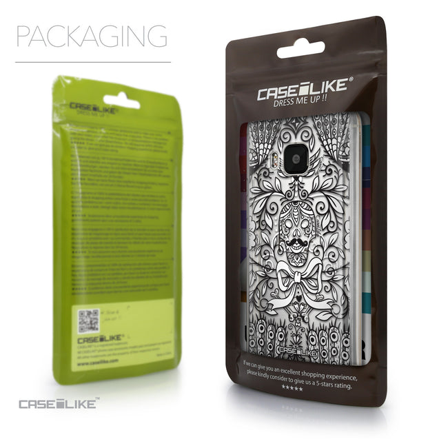Packaging - CASEiLIKE HTC One M9 back cover Roses Ornamental Skulls Peacocks 2227