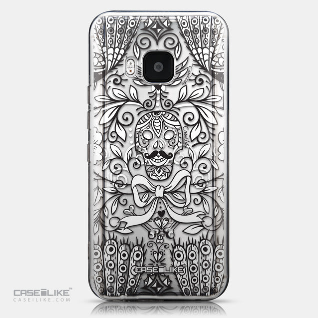 CASEiLIKE HTC One M9 back cover Roses Ornamental Skulls Peacocks 2227