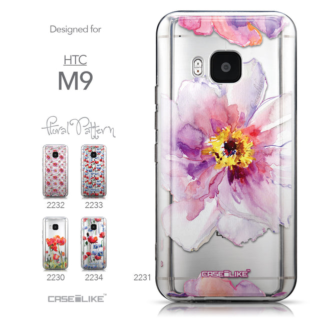 Collection - CASEiLIKE HTC One M9 back cover Watercolor Floral 2231