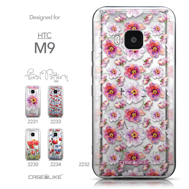 Collection - CASEiLIKE HTC One M9 back cover Watercolor Floral 2232