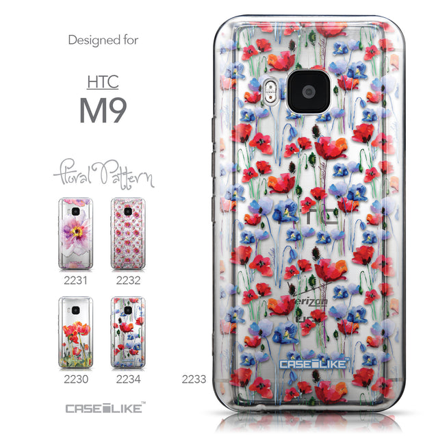 Collection - CASEiLIKE HTC One M9 back cover Watercolor Floral 2233