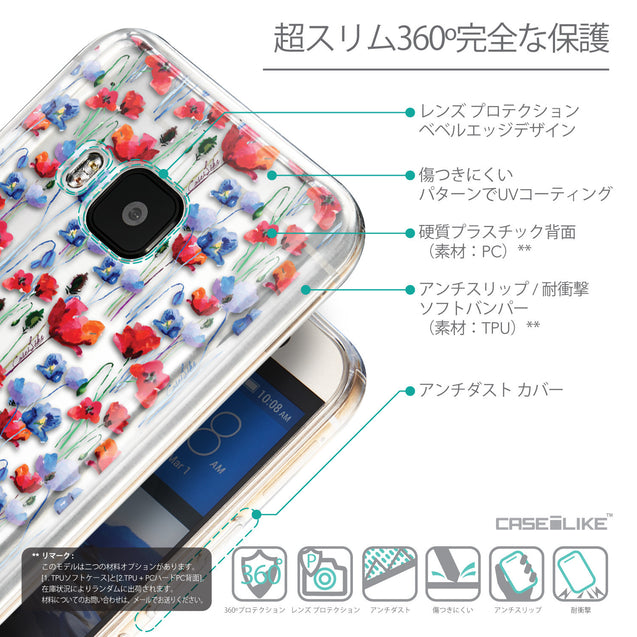 Details in Japanese - CASEiLIKE HTC One M9 back cover Watercolor Floral 2233