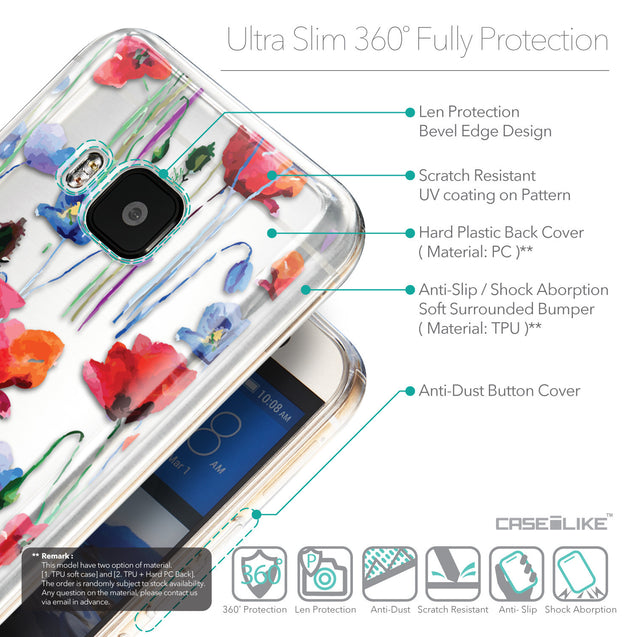 Details in English - CASEiLIKE HTC One M9 back cover Indian Line Art 2061