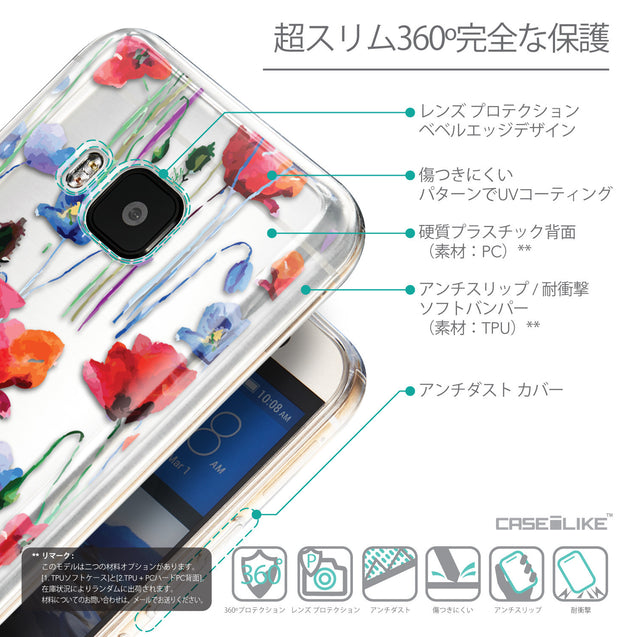 Details in Japanese - CASEiLIKE HTC One M9 back cover Indian Line Art 2061