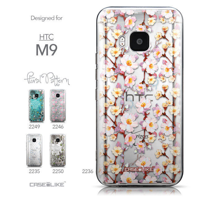 Collection - CASEiLIKE HTC One M9 back cover Watercolor Floral 2236