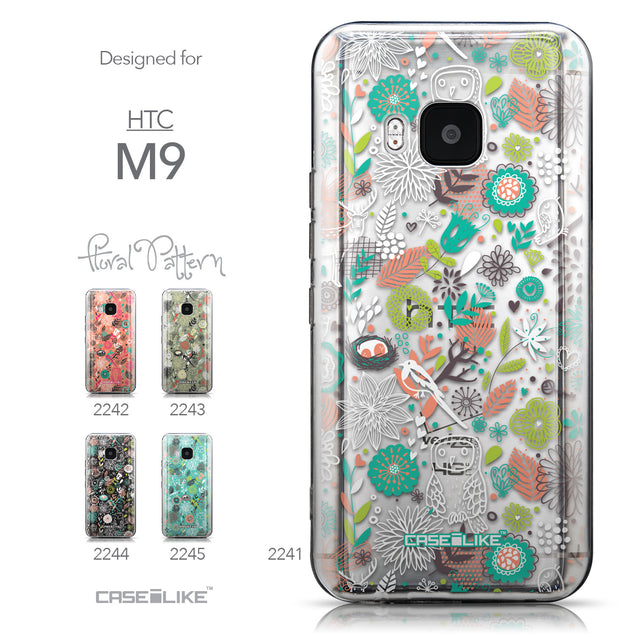 Collection - CASEiLIKE HTC One M9 back cover Spring Forest White 2241