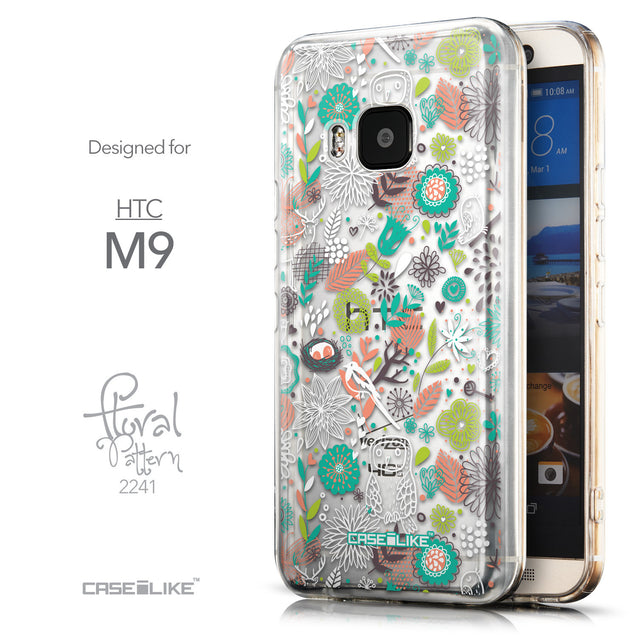 Front & Side View - CASEiLIKE HTC One M9 back cover Spring Forest White 2241