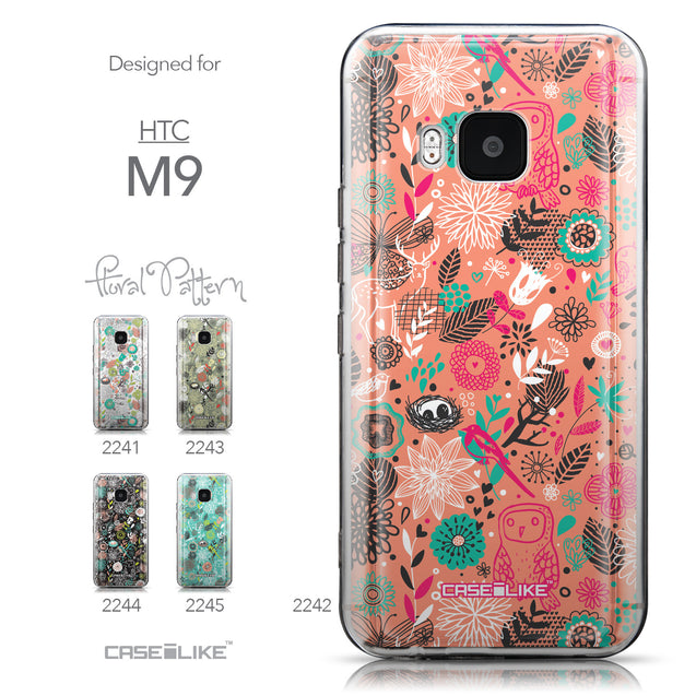 Collection - CASEiLIKE HTC One M9 back cover Spring Forest Pink 2242