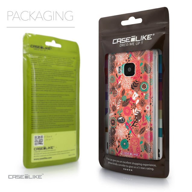 Packaging - CASEiLIKE HTC One M9 back cover Spring Forest Pink 2242