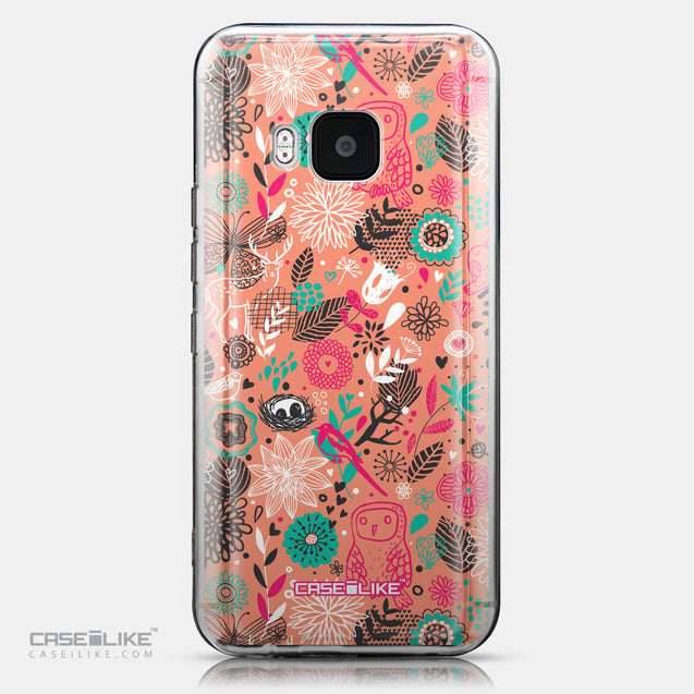 CASEiLIKE HTC One M9 back cover Spring Forest Pink 2242