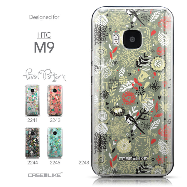 Collection - CASEiLIKE HTC One M9 back cover Spring Forest Gray 2243