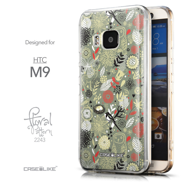 Front & Side View - CASEiLIKE HTC One M9 back cover Spring Forest Gray 2243