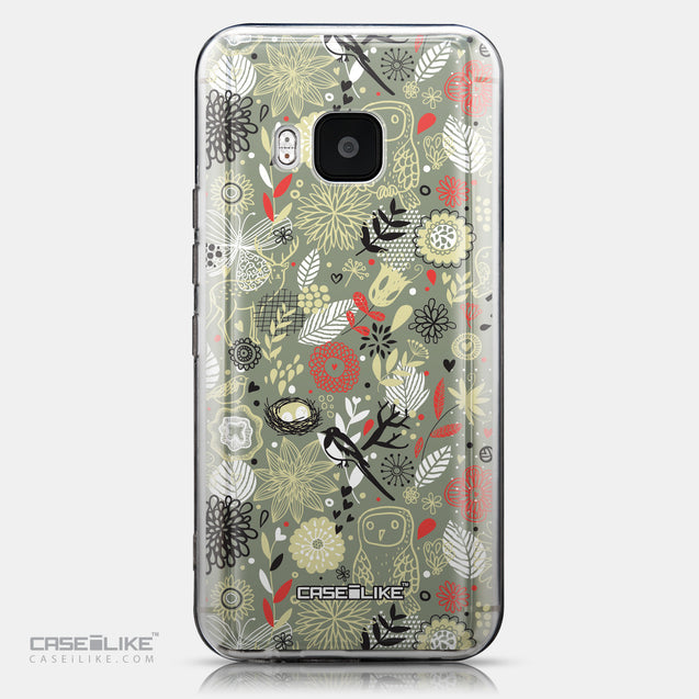 CASEiLIKE HTC One M9 back cover Spring Forest Gray 2243