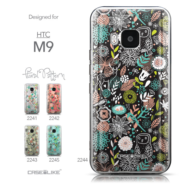 Collection - CASEiLIKE HTC One M9 back cover Spring Forest Black 2244
