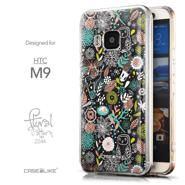 Front & Side View - CASEiLIKE HTC One M9 back cover Spring Forest Black 2244