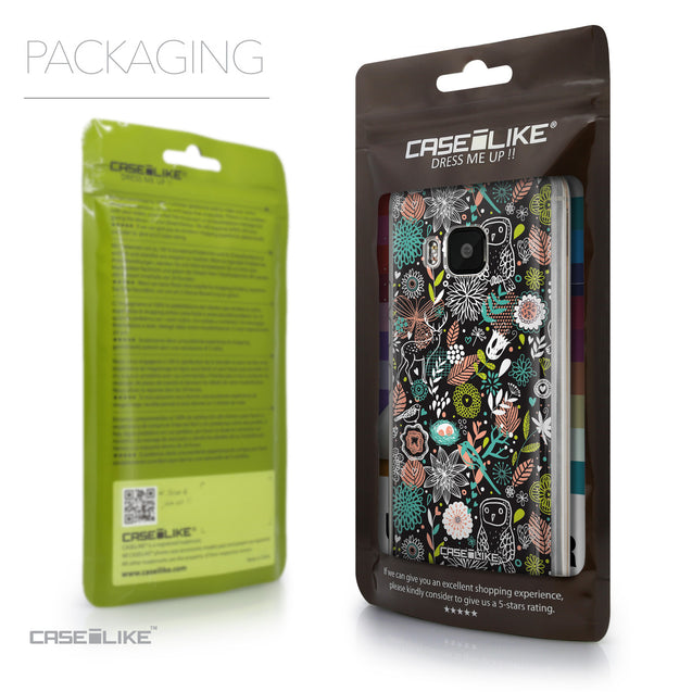 Packaging - CASEiLIKE HTC One M9 back cover Spring Forest Black 2244