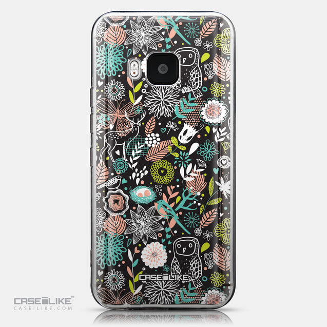 CASEiLIKE HTC One M9 back cover Spring Forest Black 2244