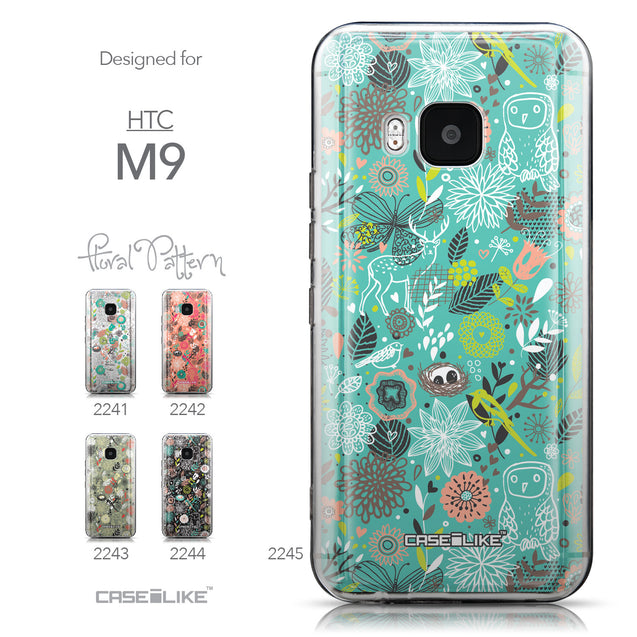 Collection - CASEiLIKE HTC One M9 back cover Spring Forest Turquoise 2245