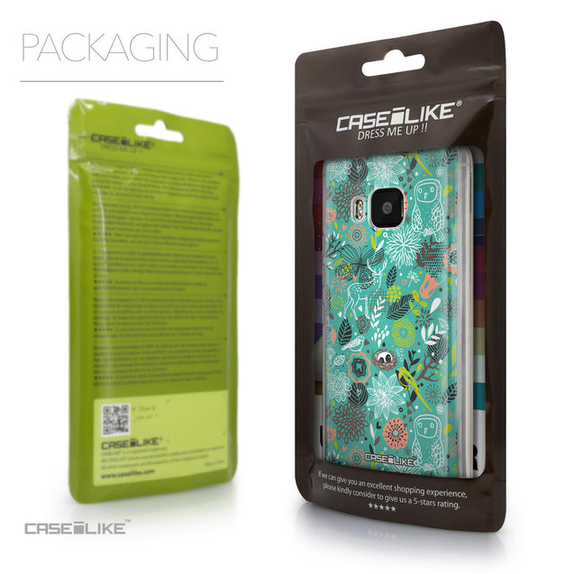 Packaging - CASEiLIKE HTC One M9 back cover Spring Forest Turquoise 2245