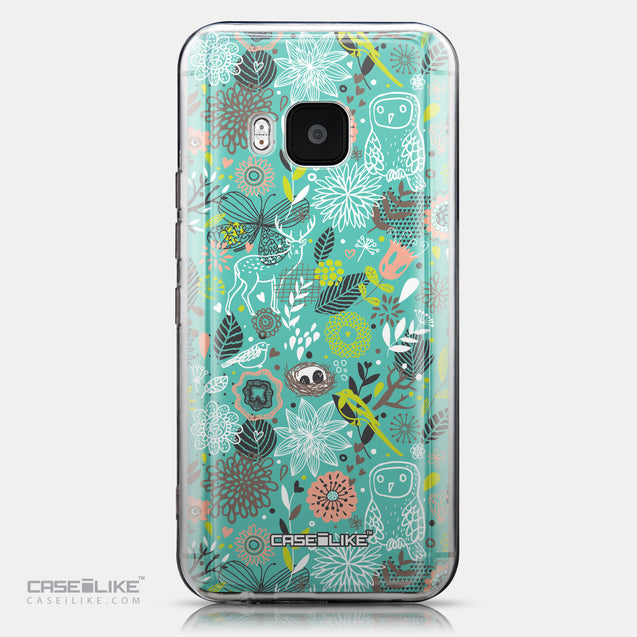 CASEiLIKE HTC One M9 back cover Spring Forest Turquoise 2245