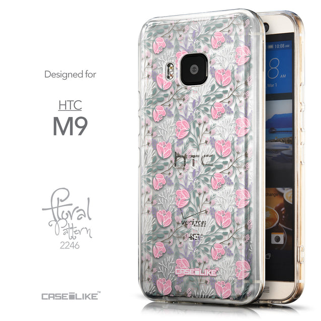 Front & Side View - CASEiLIKE HTC One M9 back cover Flowers Herbs 2246